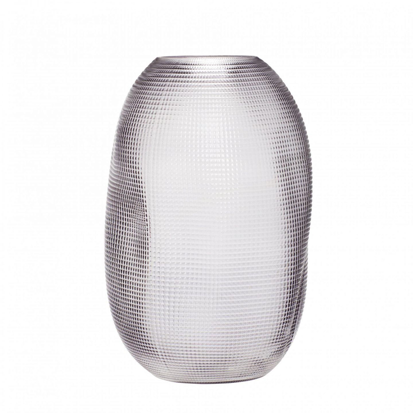 Textured glass vase from Cox and Cox.