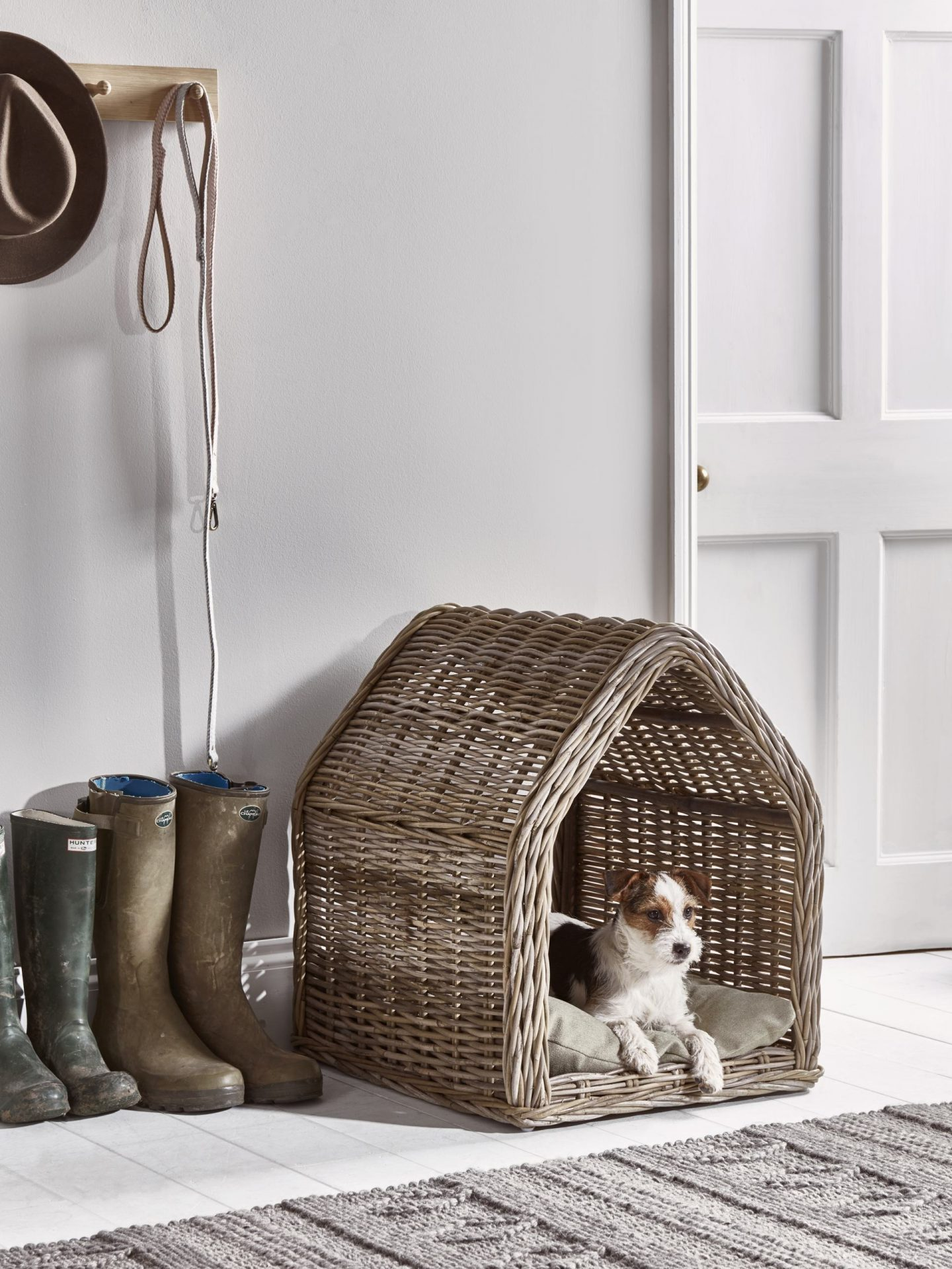 Rattan pet house by cox and cox.