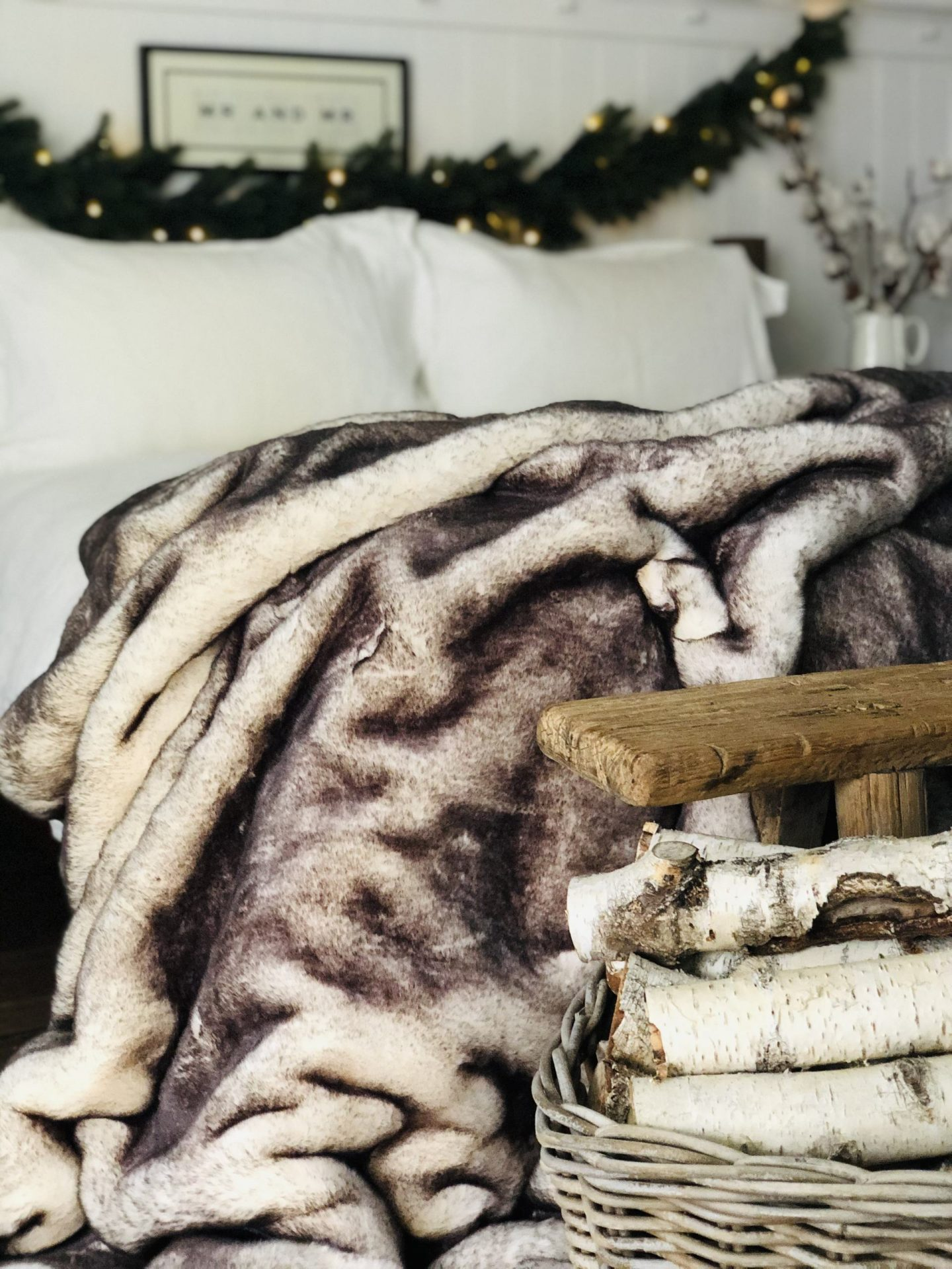 Snow fox super soft faux fur throw from Cox and Cox.