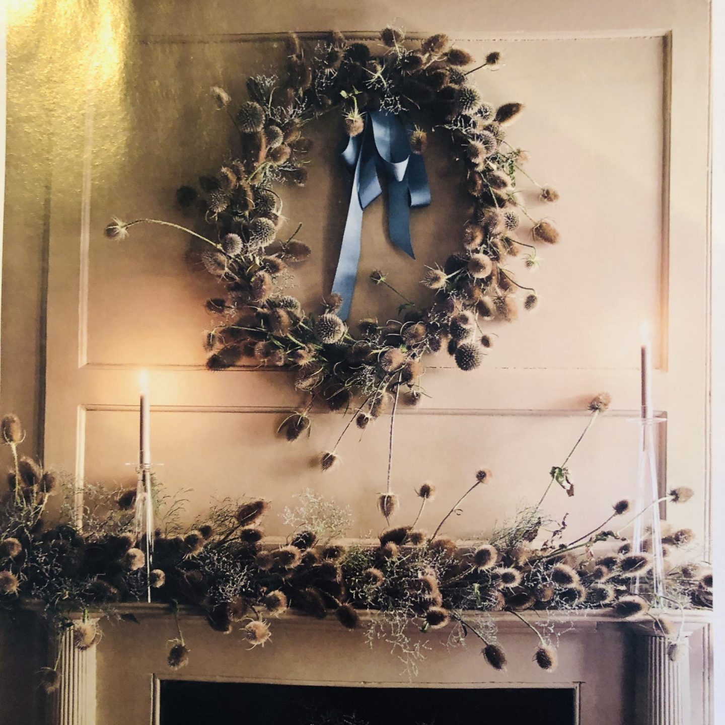 From homes and gardens mag - a teasel wreath