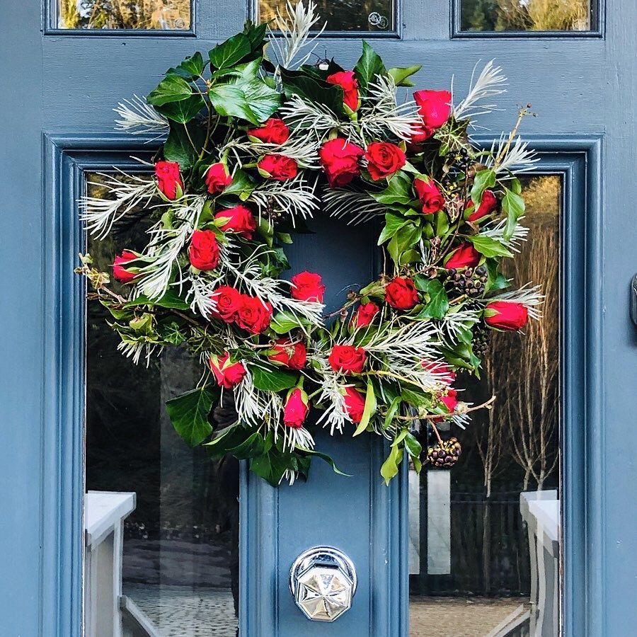 Wreath with red roses by Jp Clark