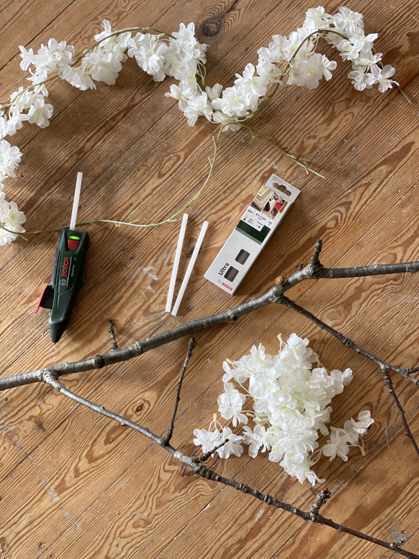 What you will need to create your own faux cherry blossom branch. Jpslifeandloves.com