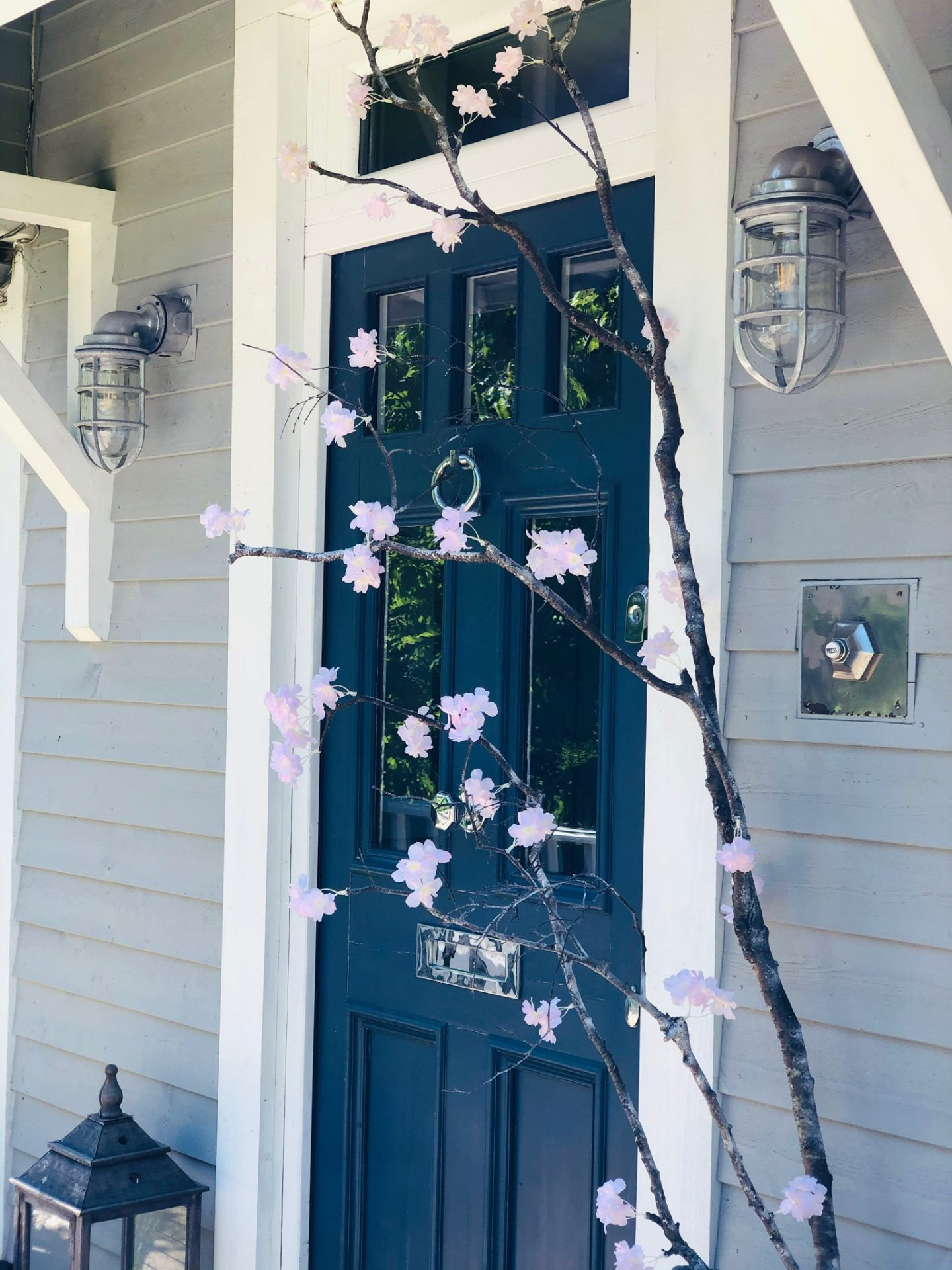 Faux cherry blossom branch made by JP Clark jpslifeandloves.com @jpslifeandloves