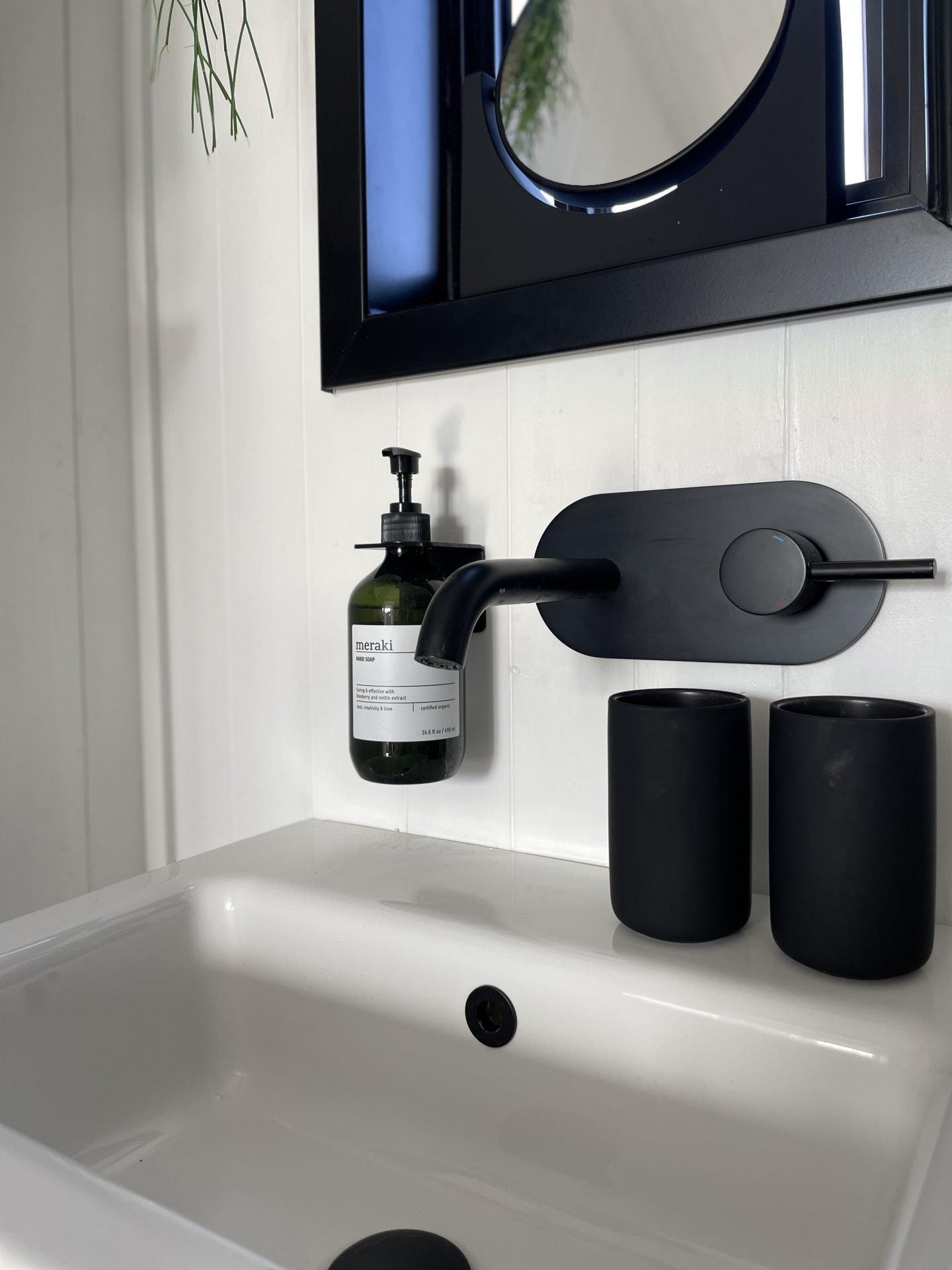 Black taps and vanity sink