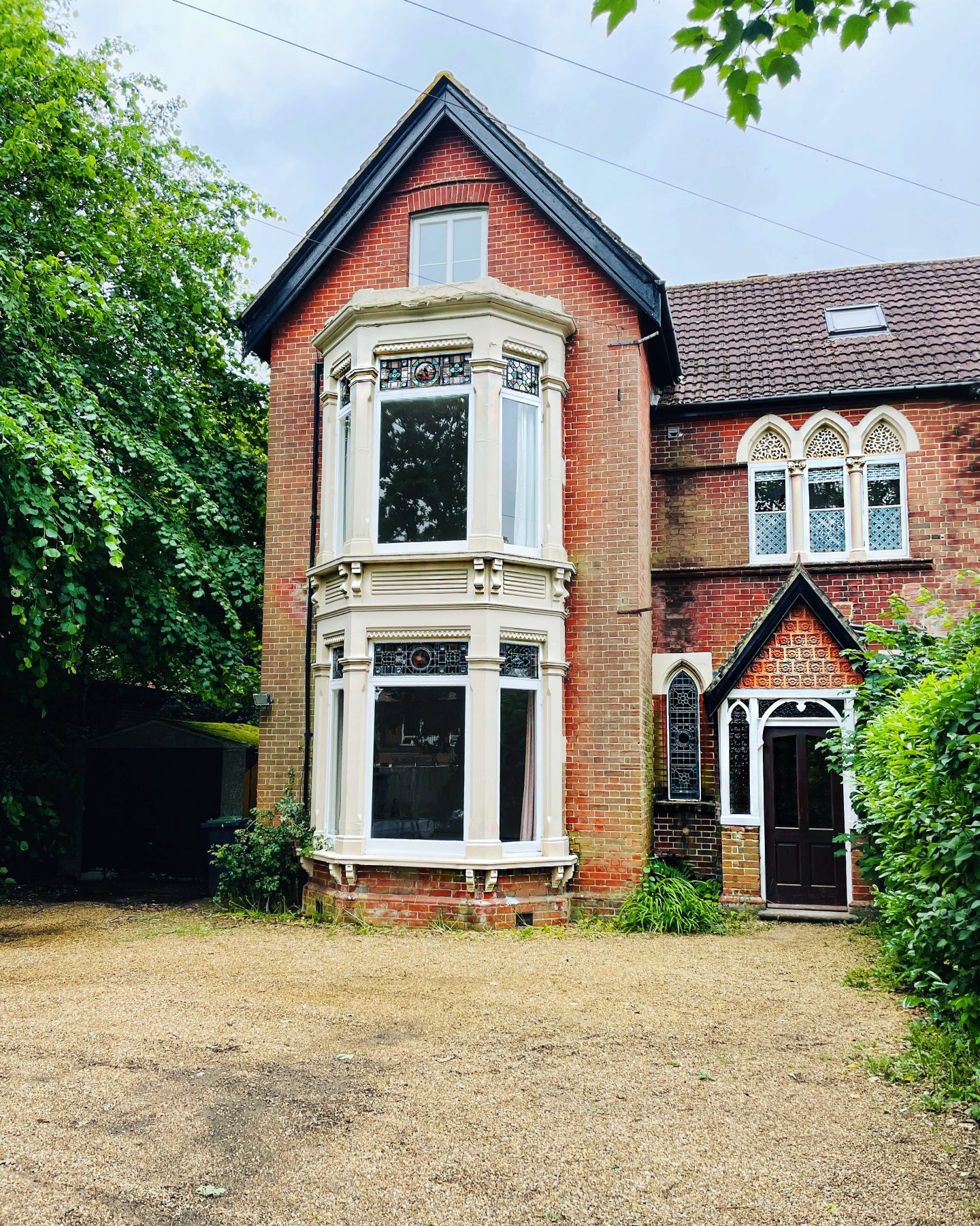Victorian gothic semi detached house