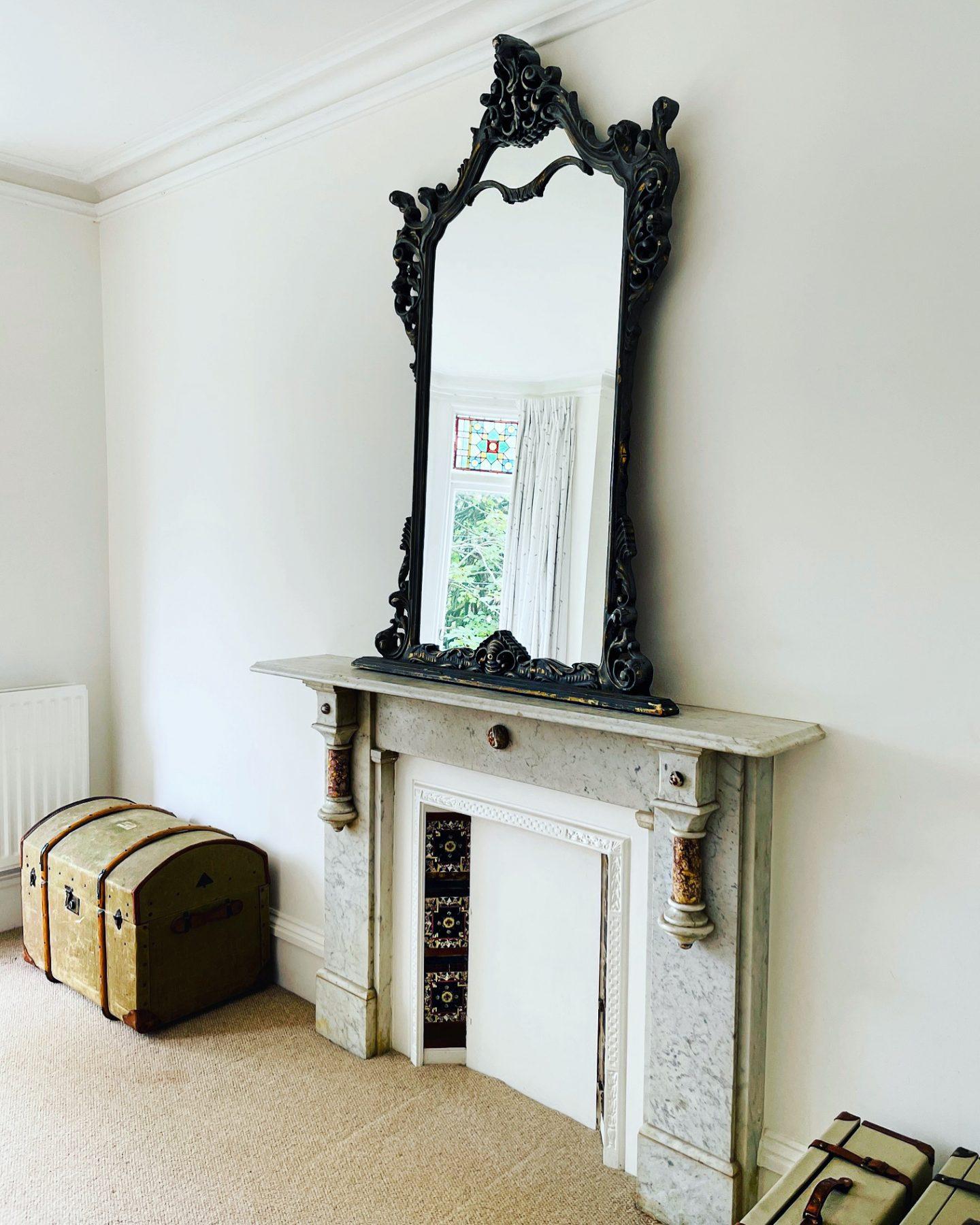 Victorian gothic semi detached house - the guest bedroom. Owned by Jp Clark @jpslifeandloves jpslifeandloves.com
