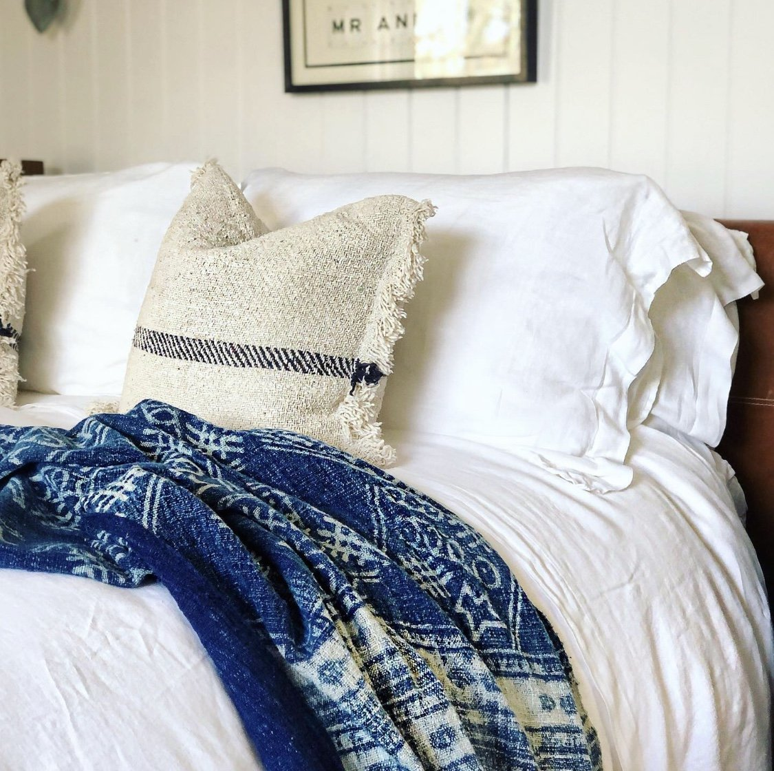 White Stone Washed Bed Linen Set