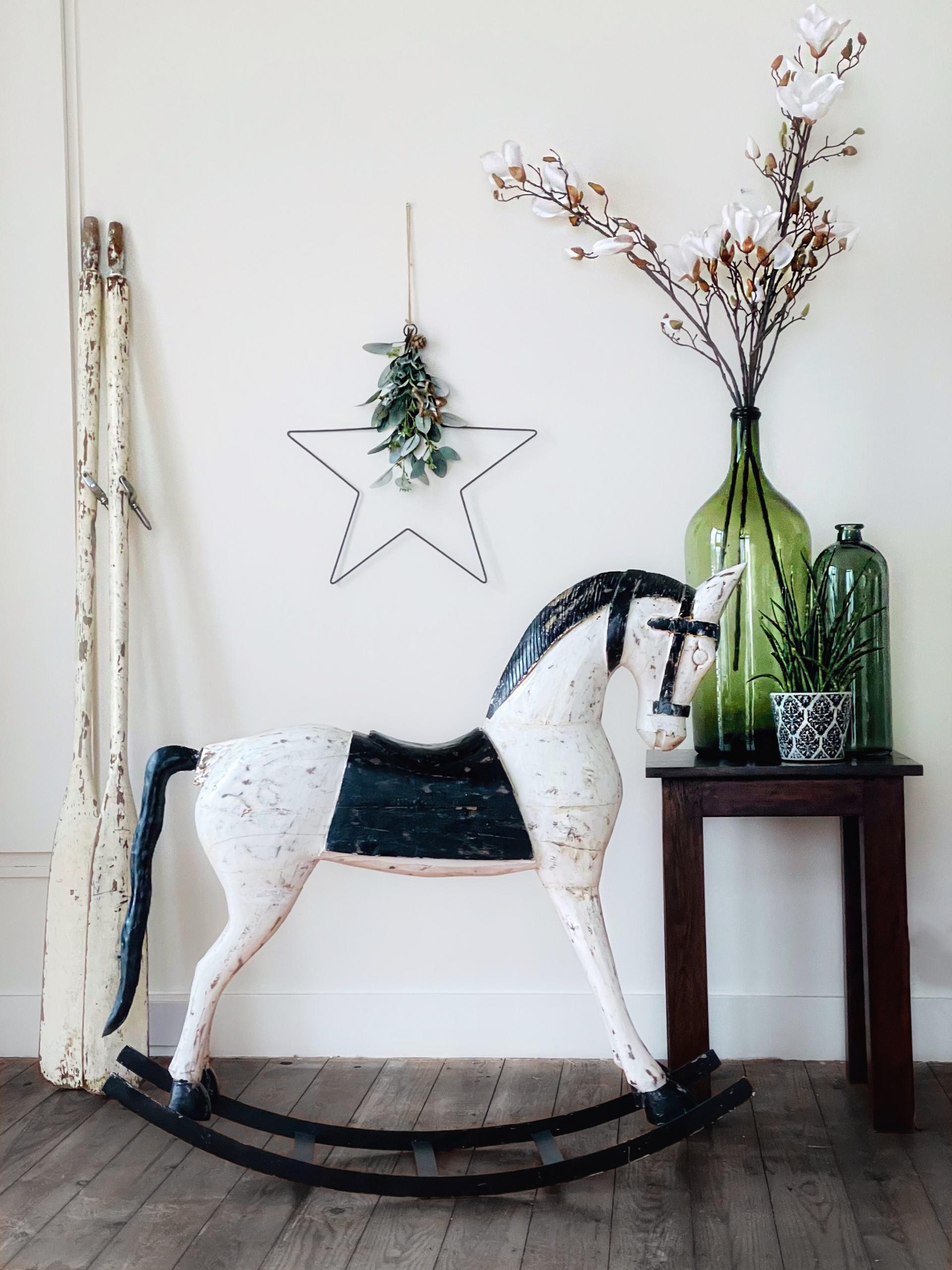Decorative Vintage Rocking Horse – XL