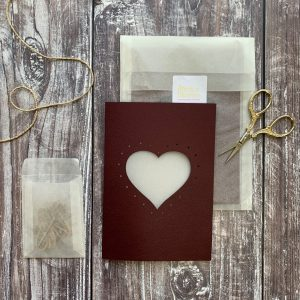 Plant A Bloomer Heart Weave-Me Card.