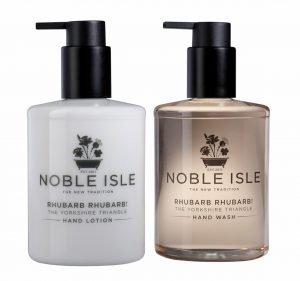 Noble Isle – Rhubarb Rhubarb Duo Set. *
