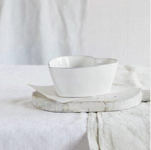 Porto Stoneware Heart Ramekin – The White Company. *