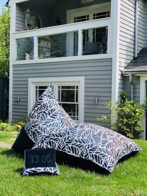 Armadillo Sun Outdoor Beanbag Lounger Chair.