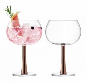 LSA International Gin Balloon Glass Set – Copper. *