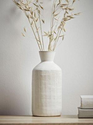 Whitewashed Bottle Vase