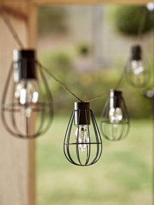 Solar Teardrop Cage Festoon Lights