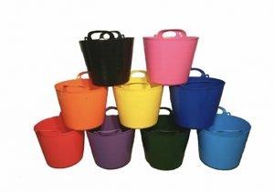 KetoPlastics Pack Of 5-40 Litre Garden Trug/Flexi Tub/Gorilla Bucket (Made In U.K) *